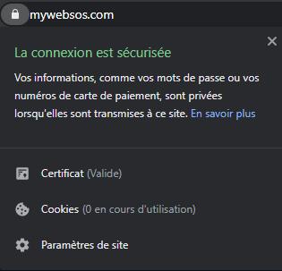 Nous n'utilisons pas de cookie sur mywebsos.com